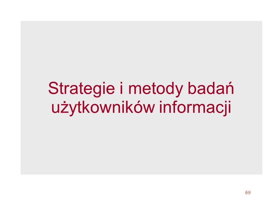 Strategie i metody badań użytkowników informacji