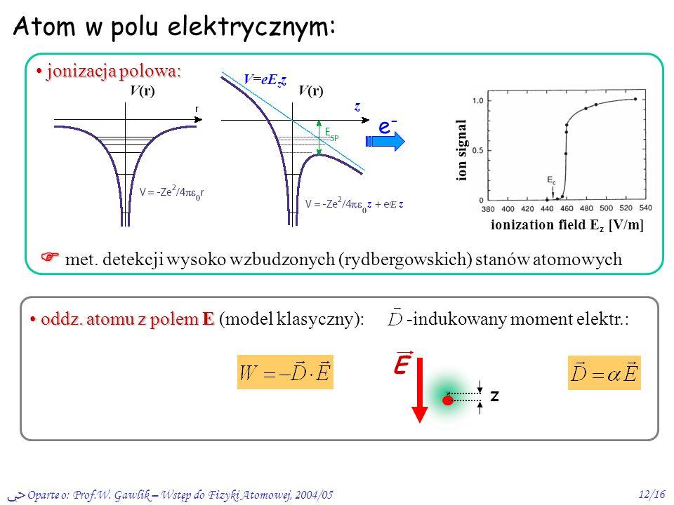 Atom w polu elektrycznym: