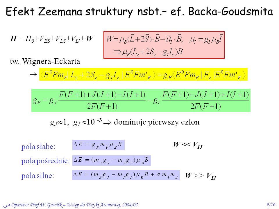struktury nsbt.– ef. Backa-Goudsmita
