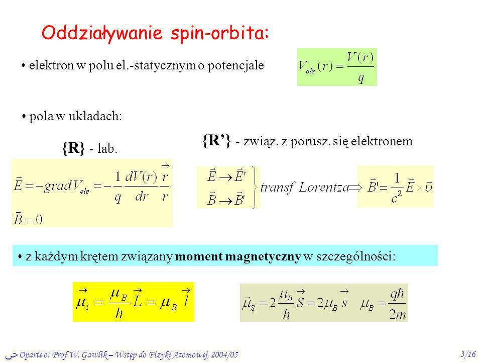 Oddziaływanie spin-orbita:
