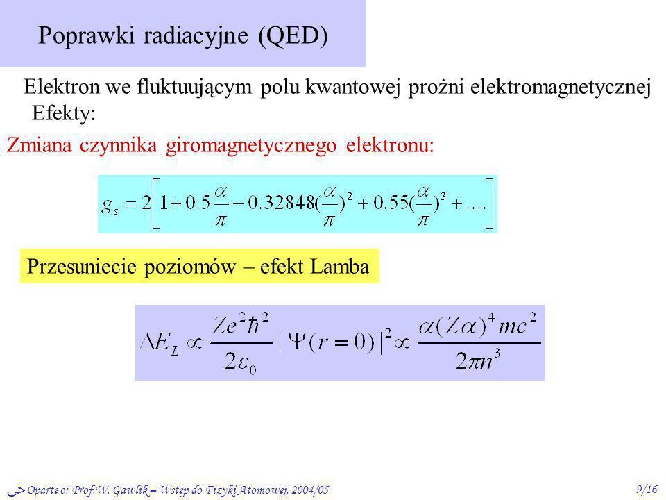 Poprawki radiacyjne (QED)