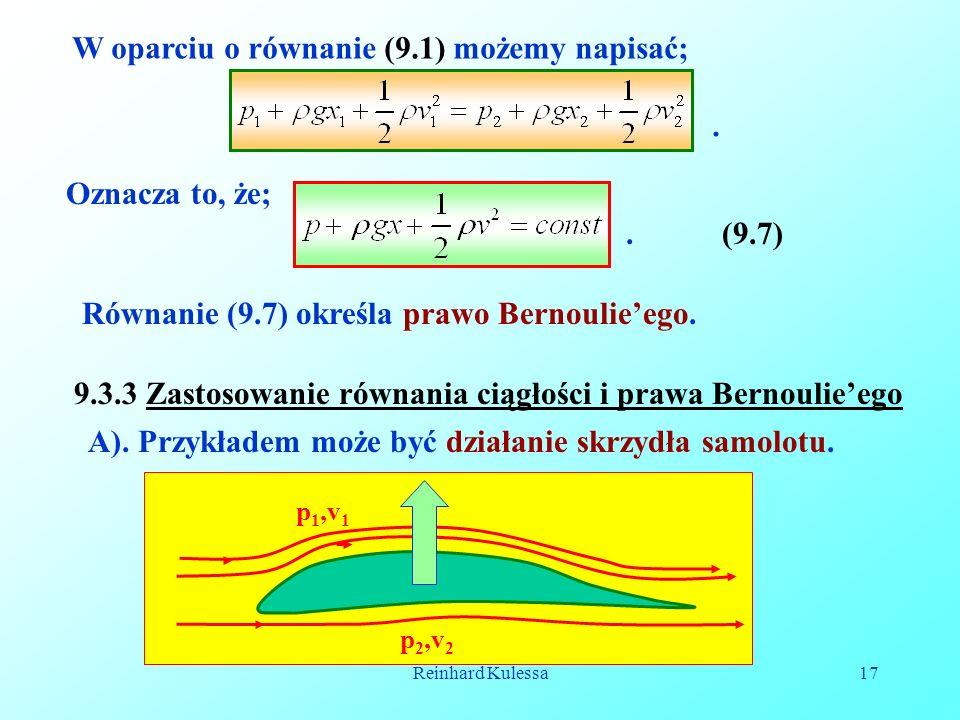 W oparciu o równanie (9.1) możemy napisać;