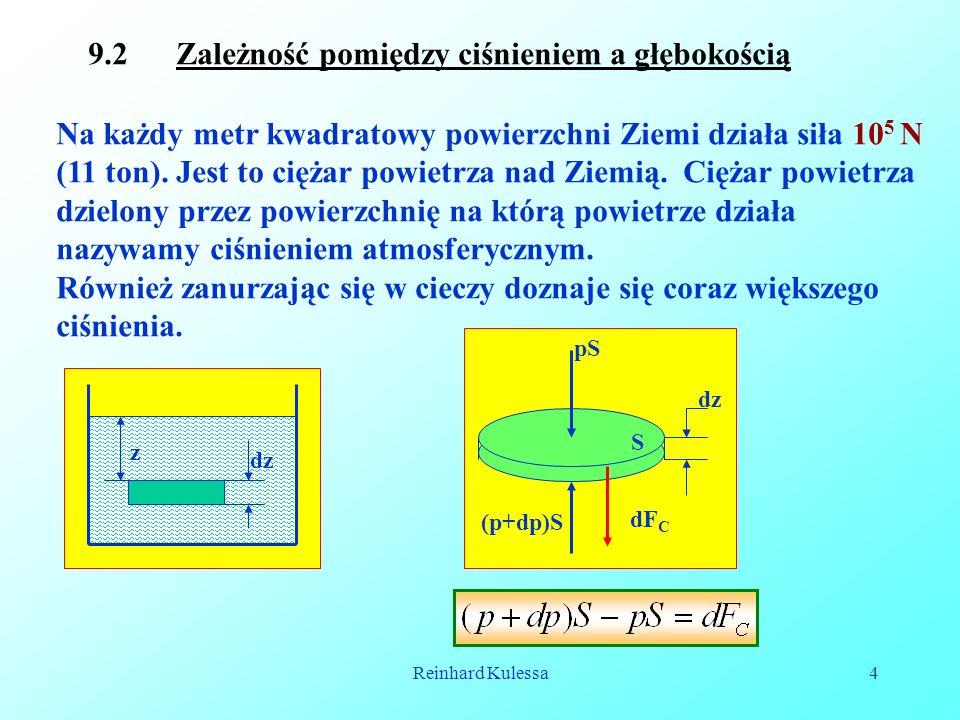 9.2 Zależność pomiędzy ciśnieniem a głębokością