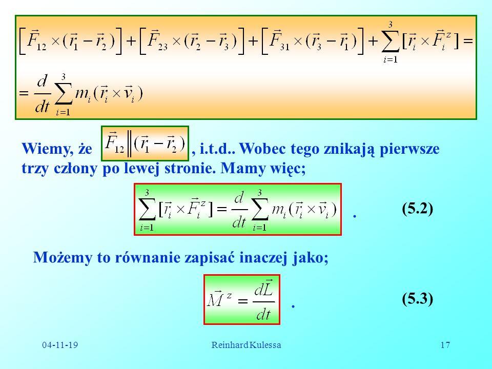 Możemy to równanie zapisać inaczej jako;