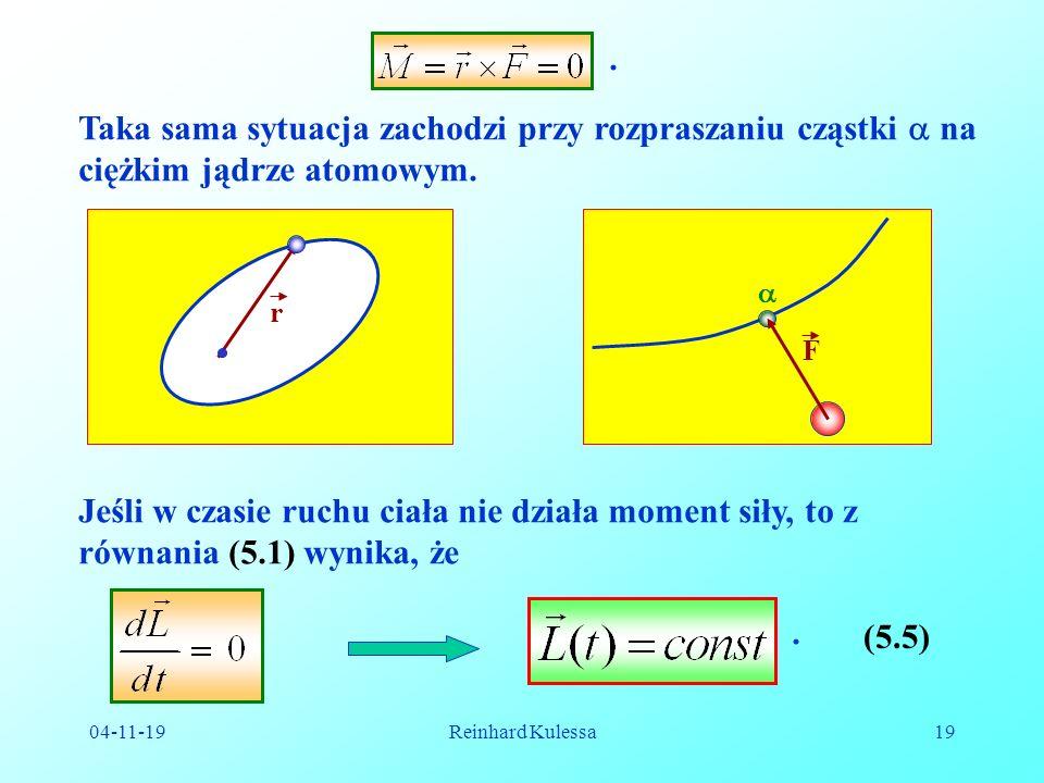 . Taka sama sytuacja zachodzi przy rozpraszaniu cząstki  na ciężkim jądrze atomowym. r.  F.