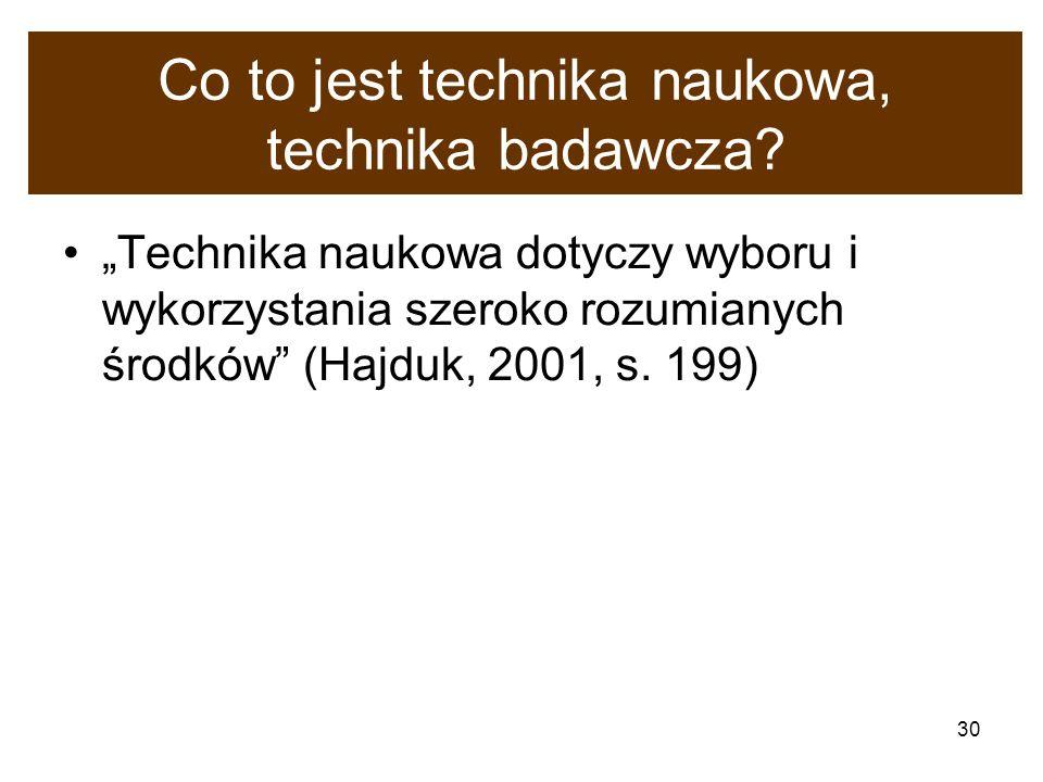 Co to jest technika naukowa, technika badawcza