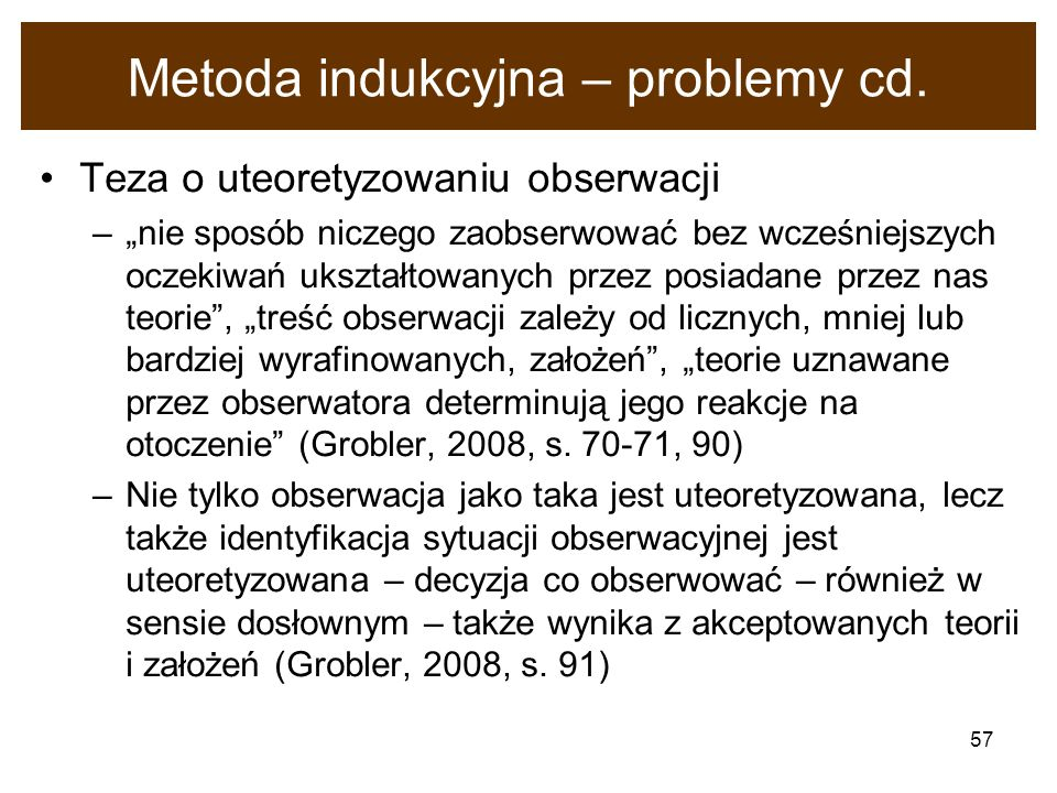 Metoda indukcyjna – problemy cd.