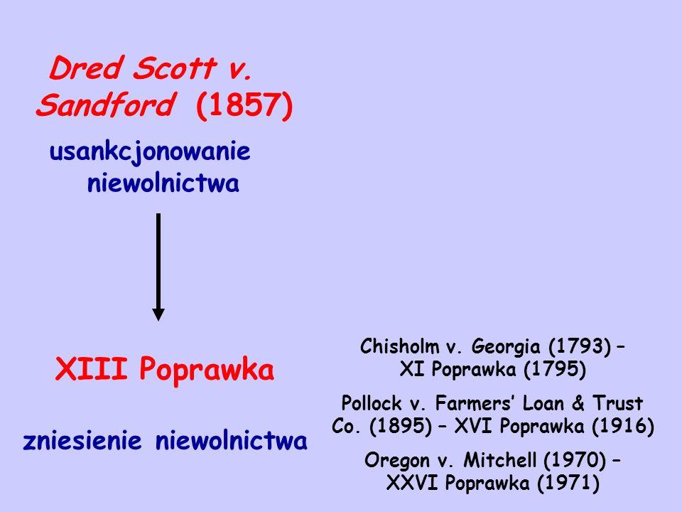 Dred Scott v. Sandford (1857) XIII Poprawka