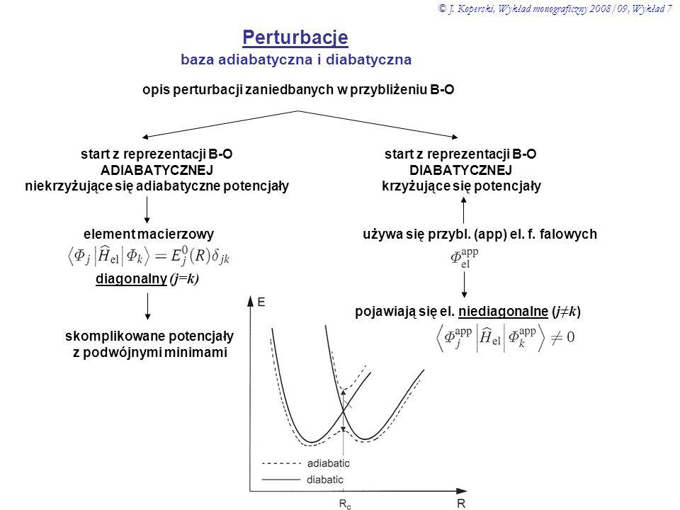 opis perturbacji zaniedbanych w przybliżeniu B-O