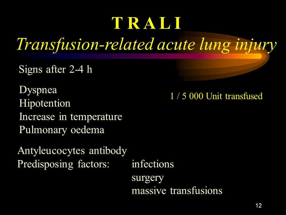 Transfusion-related acute lung injury
