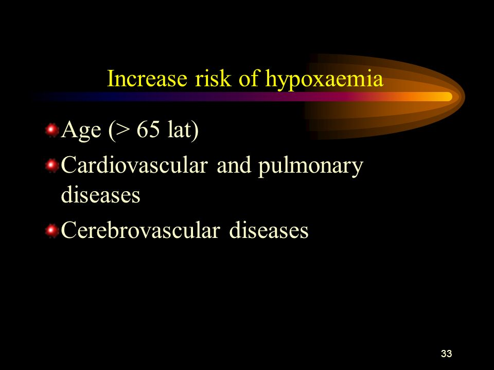 Increase risk of hypoxaemia