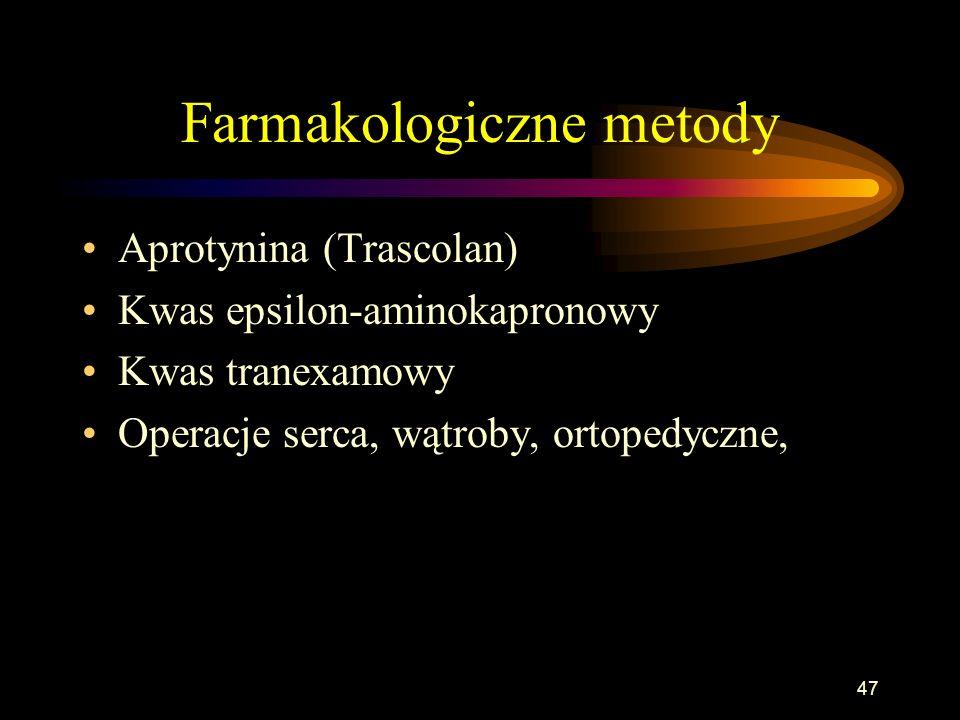 Farmakologiczne metody