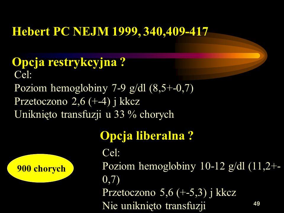 Hebert PC NEJM 1999, 340,409-417 Opcja restrykcyjna