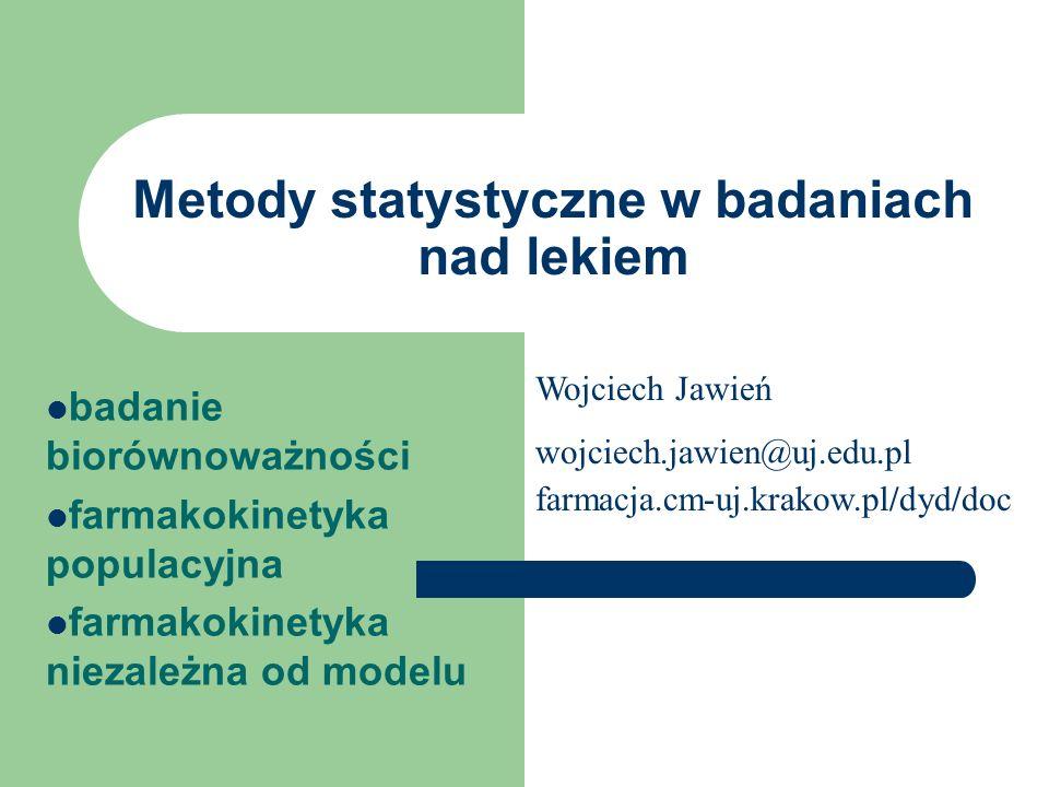 Metody statystyczne w badaniach nad lekiem