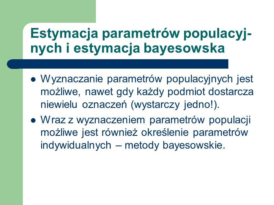 Estymacja parametrów populacyj-nych i estymacja bayesowska