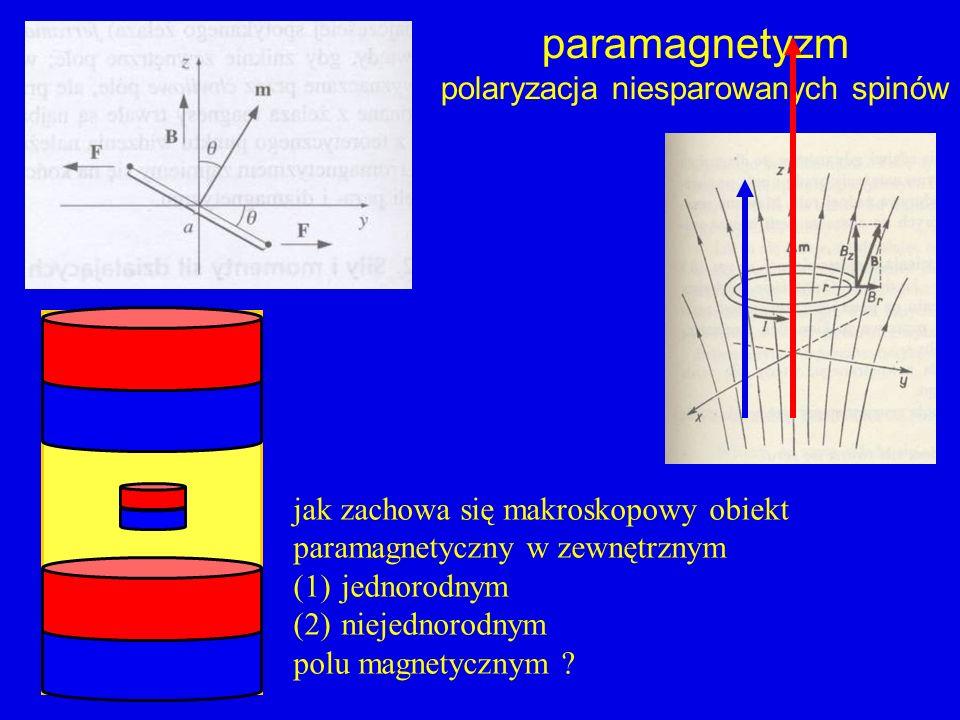 polaryzacja niesparowanych spinów