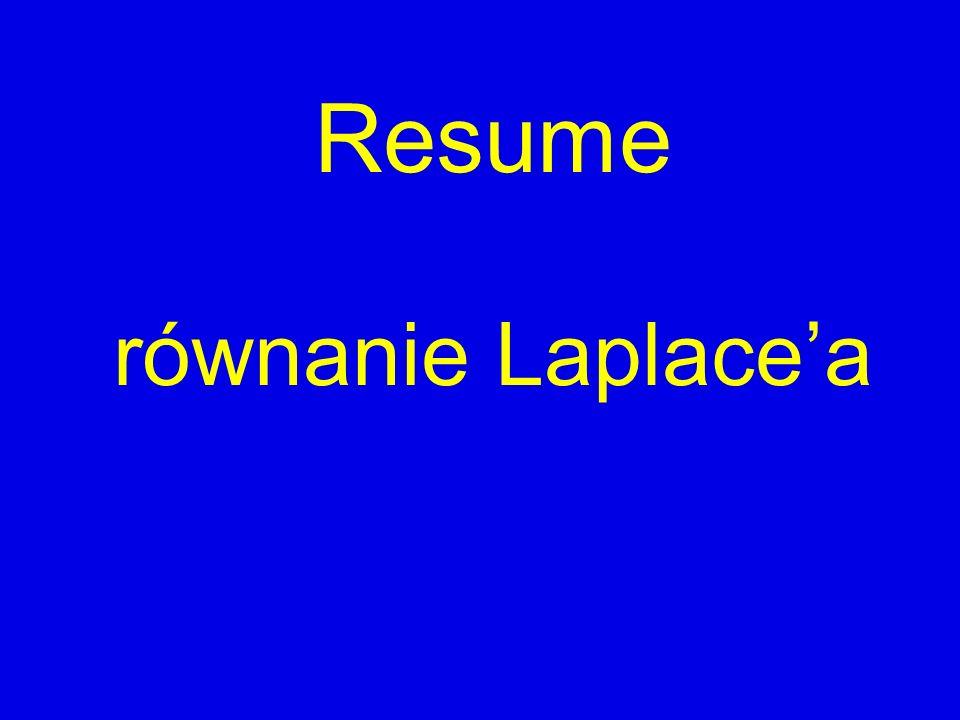 Resume równanie Laplace'a