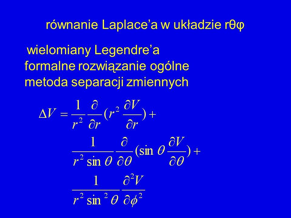równanie Laplace'a w układzie rθφ