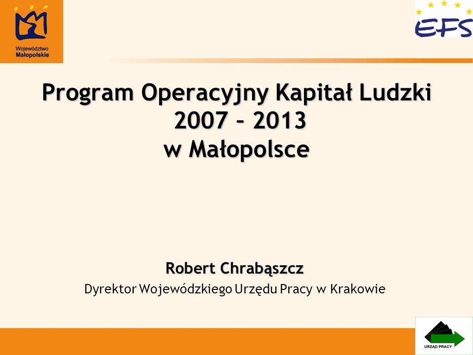 Program Operacyjny Kapitał Ludzki 2007 – 2013 w Małopolsce