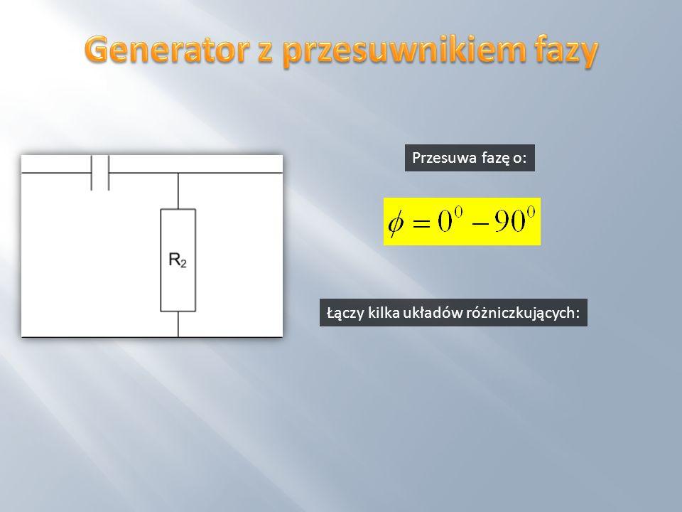 Generator z przesuwnikiem fazy