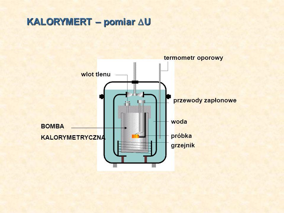 KALORYMERT – pomiar U termometr oporowy wlot tlenu przewody zapłonowe