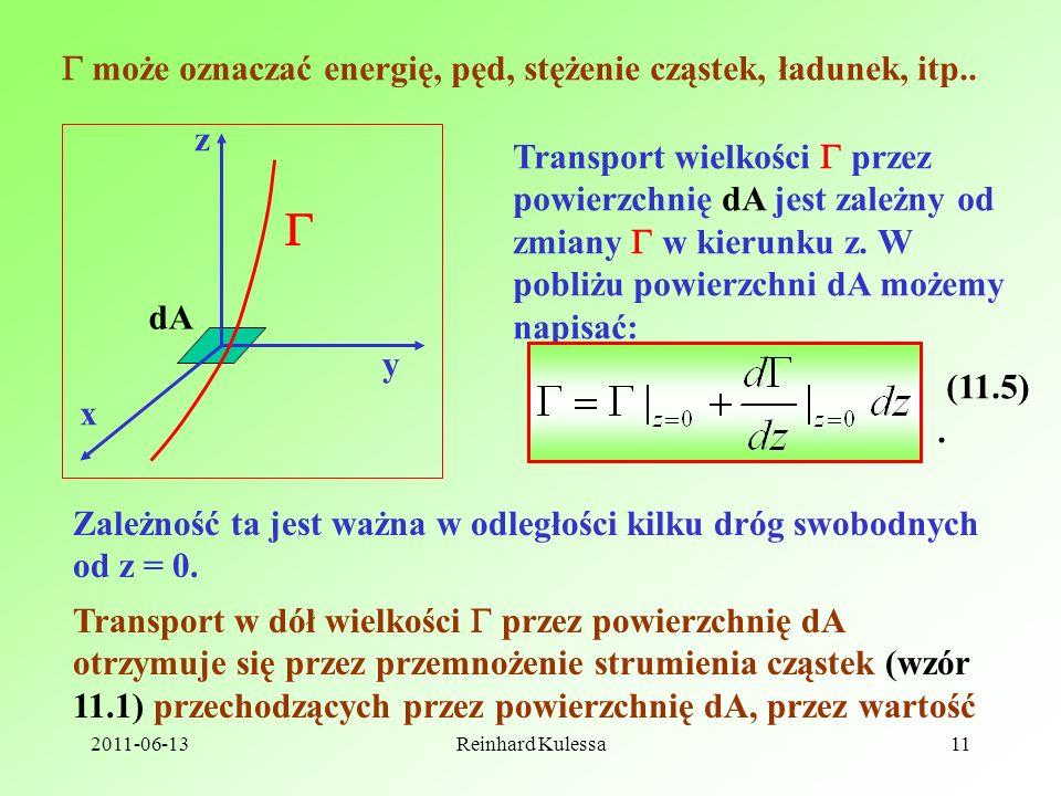   może oznaczać energię, pęd, stężenie cząstek, ładunek, itp.. z