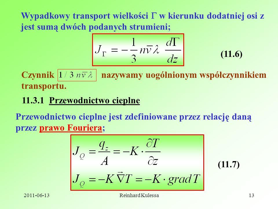 Czynnik nazywamy uogólnionym współczynnikiem transportu.
