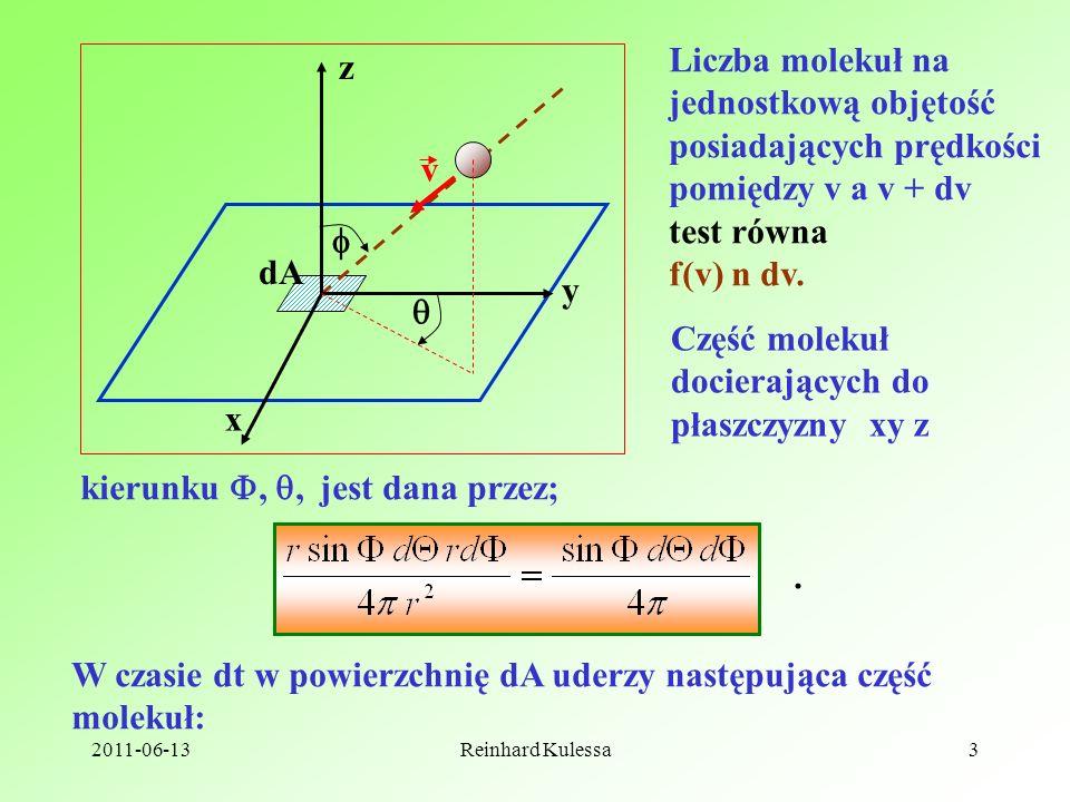 posiadających prędkości pomiędzy v a v + dv test równa f(v) n dv.