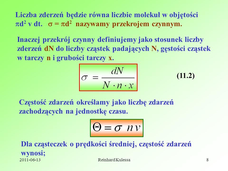 Liczba zderzeń będzie równa liczbie molekuł w objętości
