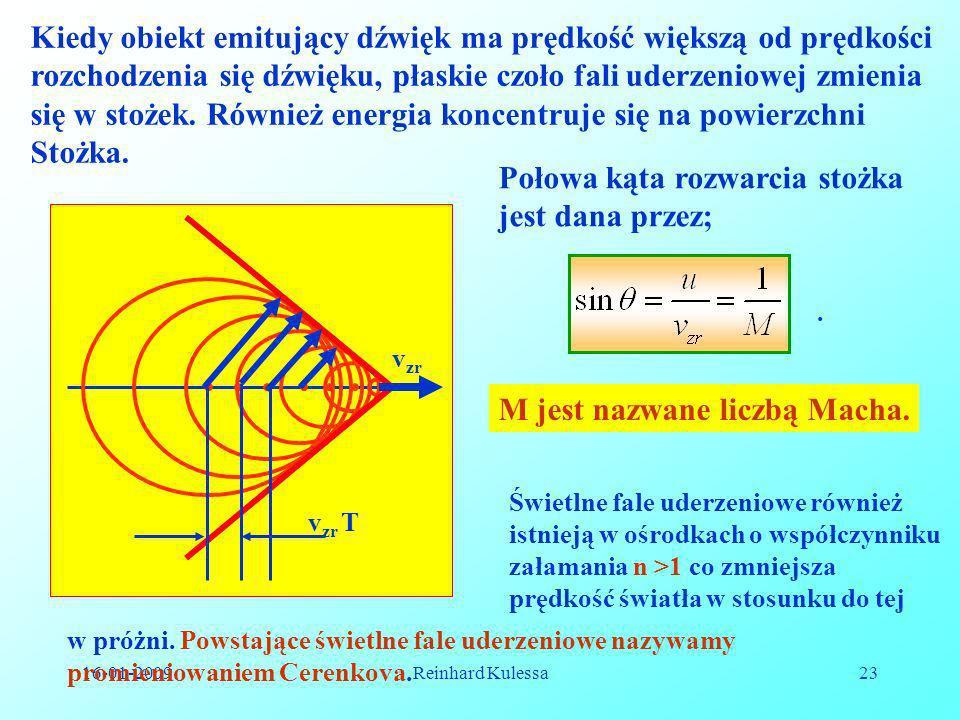 Kiedy obiekt emitujący dźwięk ma prędkość większą od prędkości