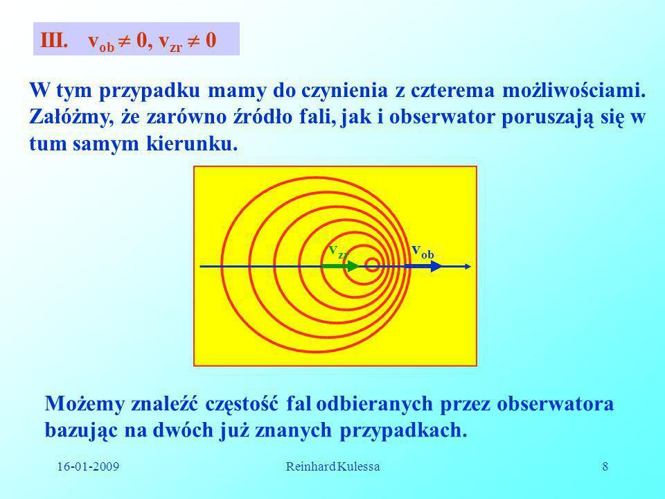 Możemy znaleźć częstość fal odbieranych przez obserwatora