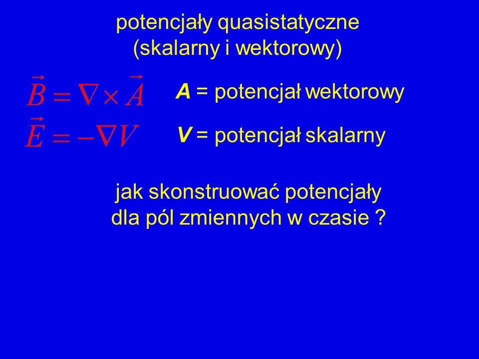 potencjały quasistatyczne (skalarny i wektorowy)