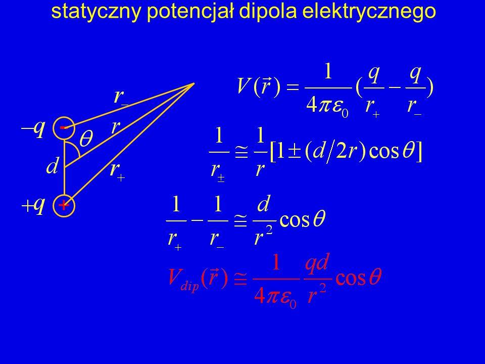 statyczny potencjał dipola elektrycznego