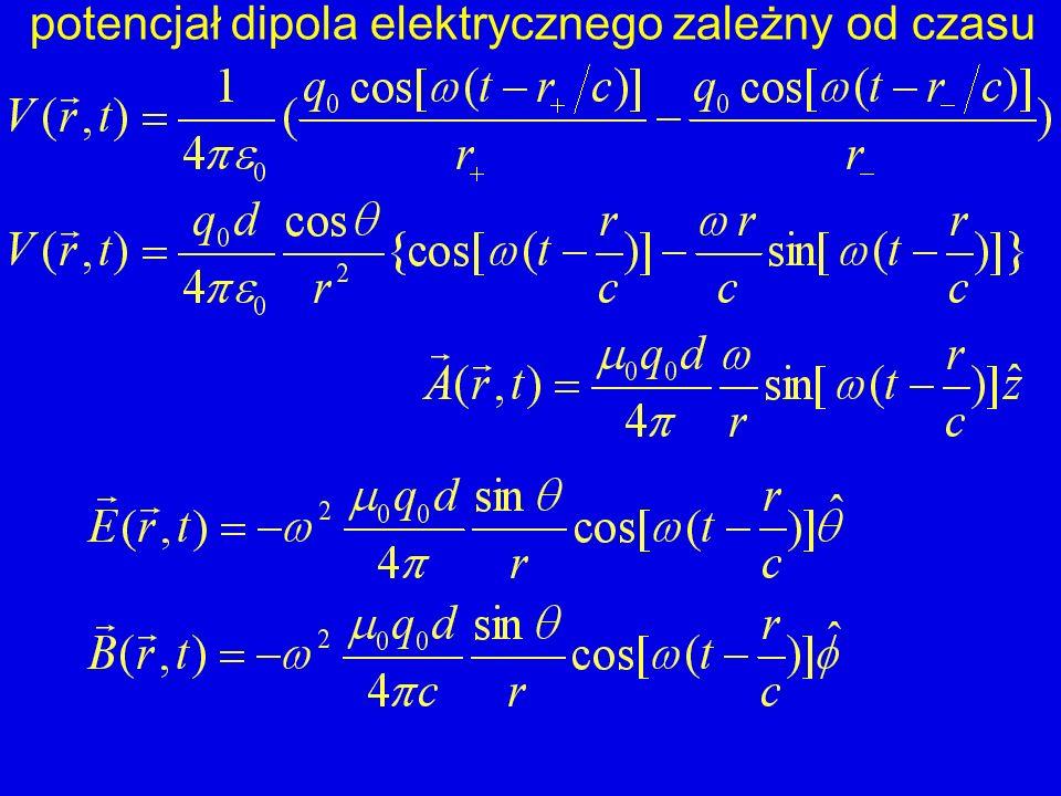 potencjał dipola elektrycznego zależny od czasu