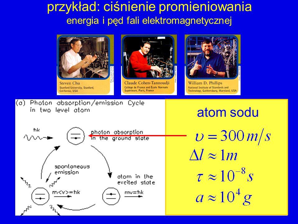 przykład: ciśnienie promieniowania