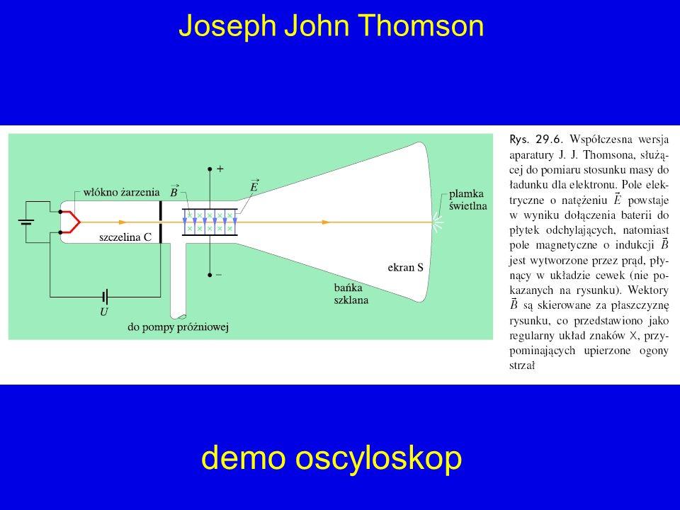 Joseph John Thomson demo oscyloskop