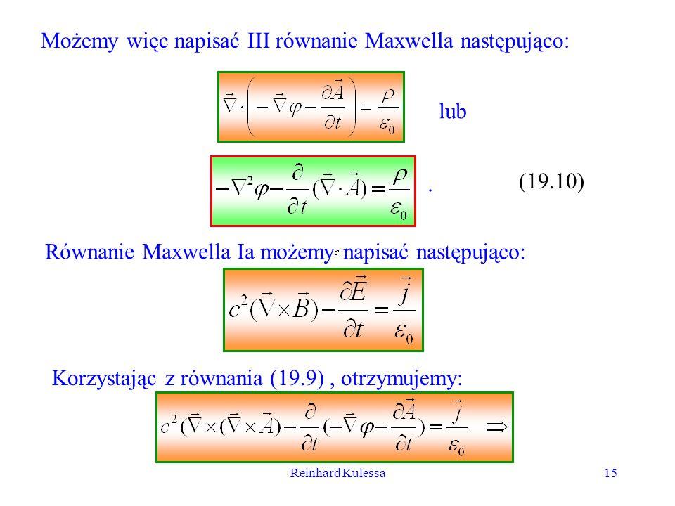 Możemy więc napisać III równanie Maxwella następująco: