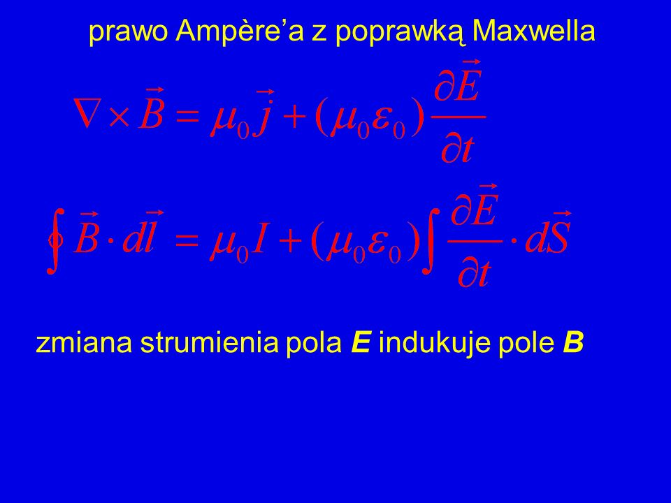 prawo Ampère'a z poprawką Maxwella