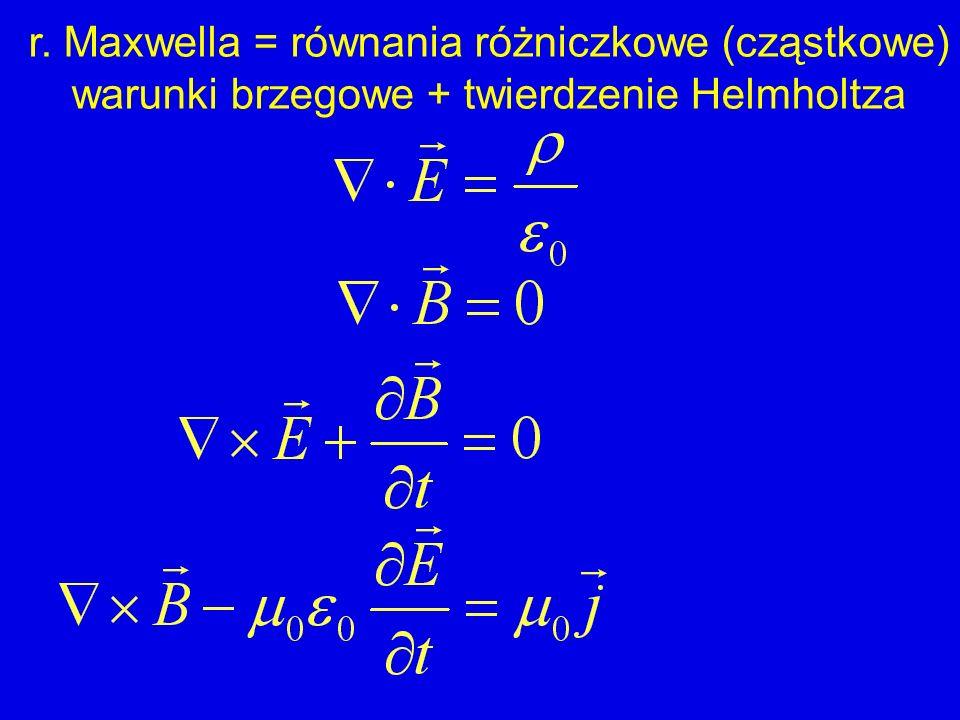 r. Maxwella = równania różniczkowe (cząstkowe)