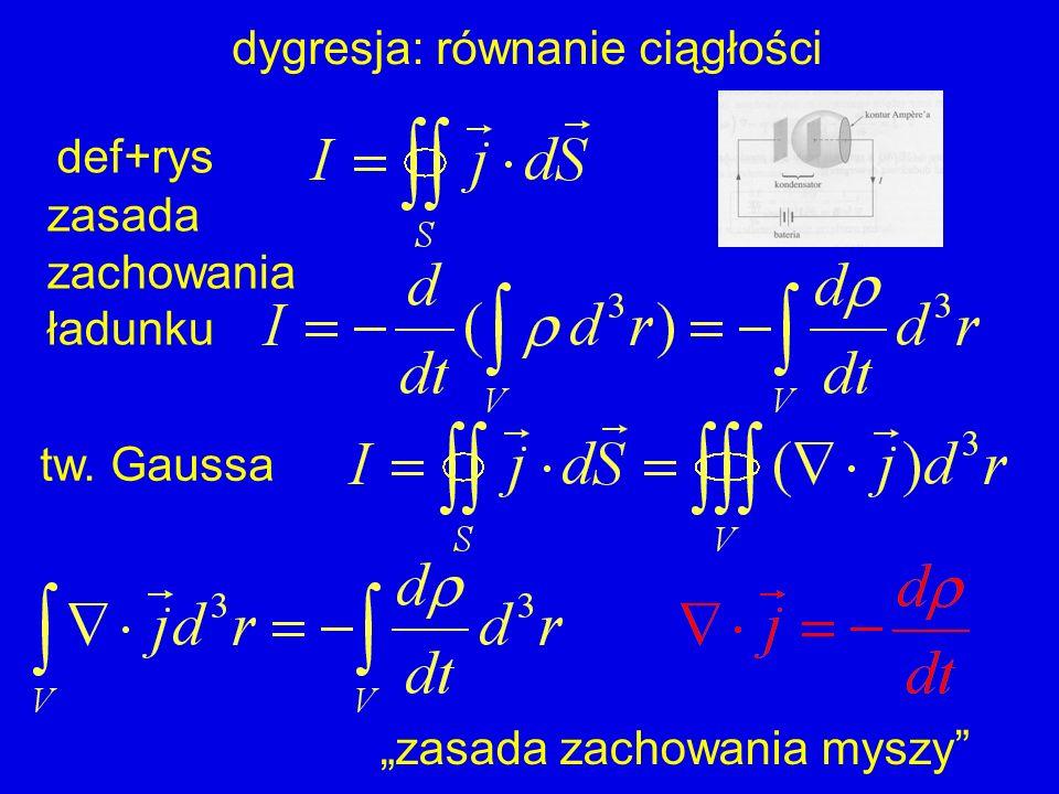 dygresja: równanie ciągłości