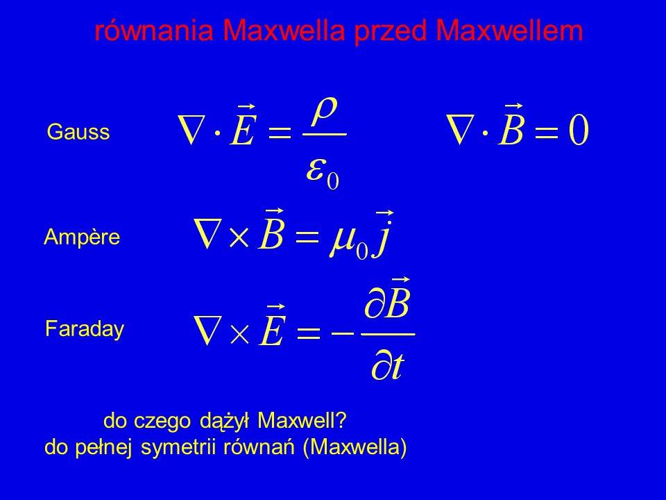 równania Maxwella przed Maxwellem