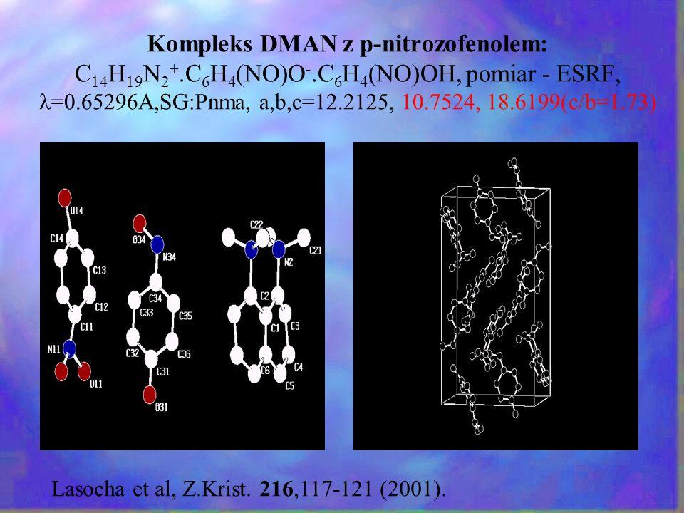Kompleks DMAN z p-nitrozofenolem: C14H19N2+. C6H4(NO)O-