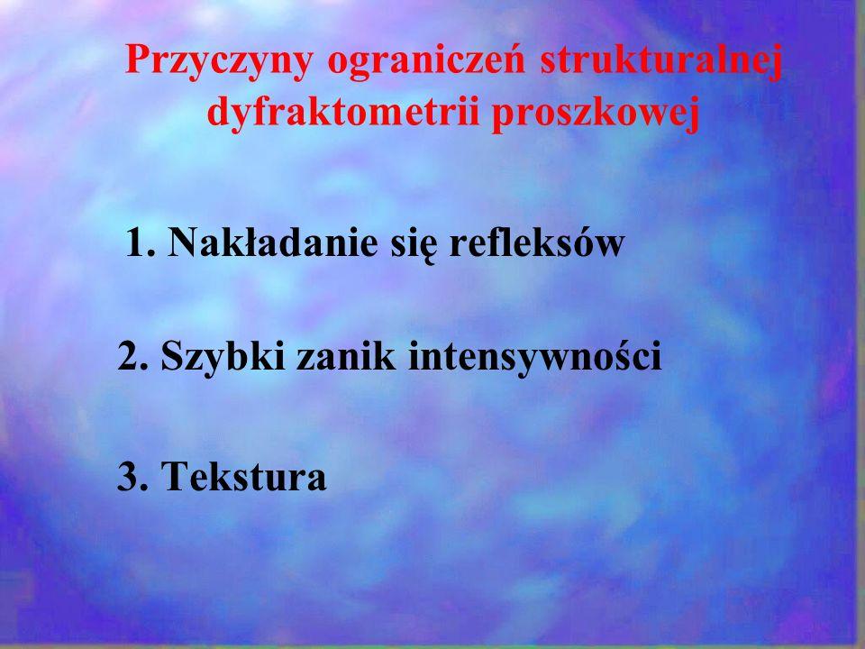Przyczyny ograniczeń strukturalnej dyfraktometrii proszkowej