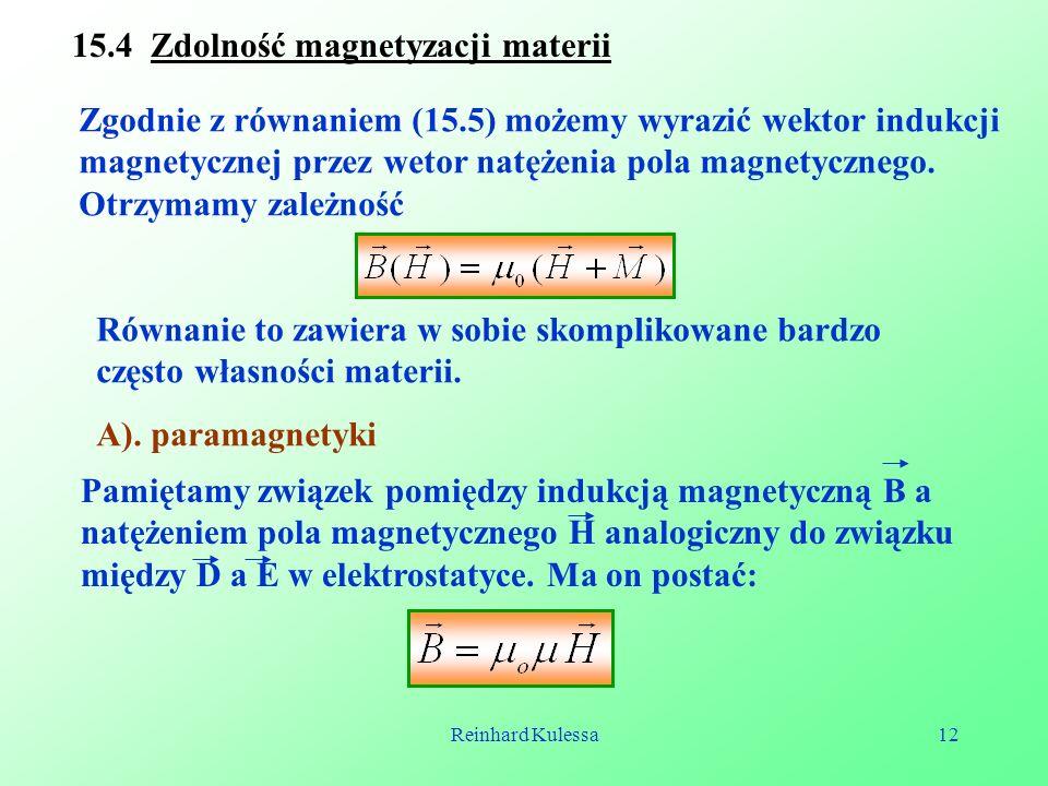 15.4 Zdolność magnetyzacji materii