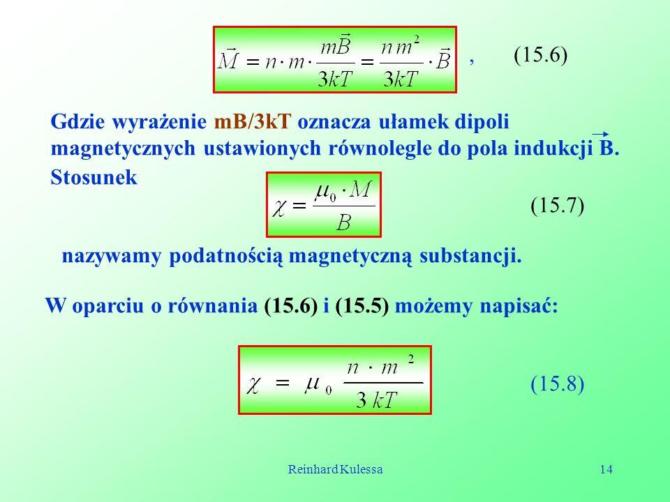 nazywamy podatnością magnetyczną substancji.