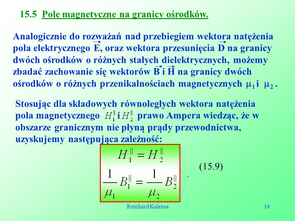 15.5 Pole magnetyczne na granicy ośrodków.