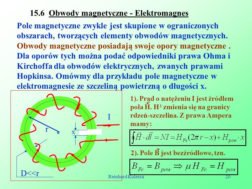 15.6 Obwody magnetyczne - Elektromagnes