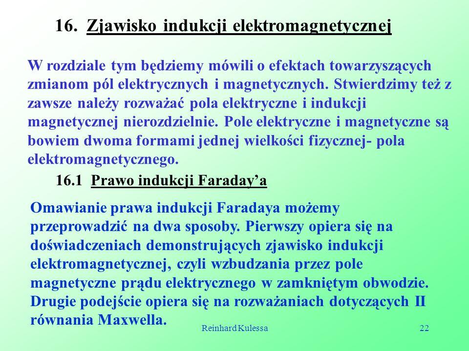 16. Zjawisko indukcji elektromagnetycznej