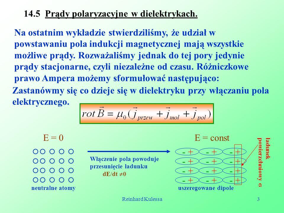 14.5 Prądy polaryzacyjne w dielektrykach.
