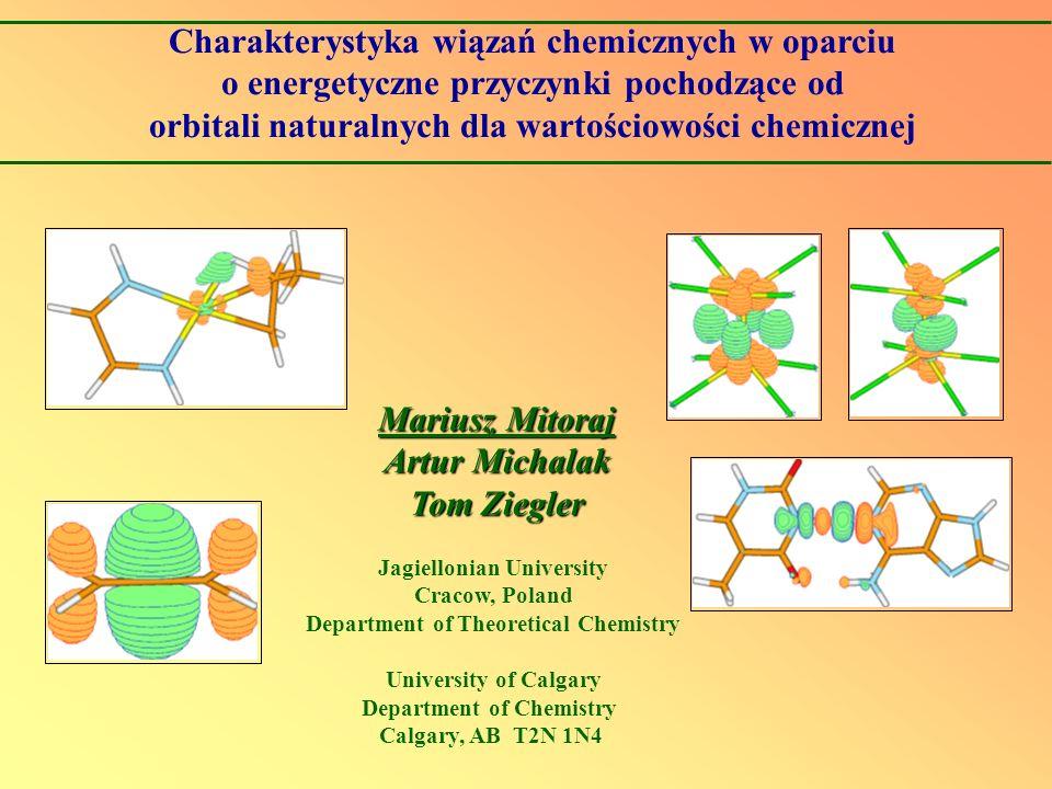 Charakterystyka wiązań chemicznych w oparciu